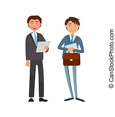 homme affaires, cadre, ouvrier, usure, formel