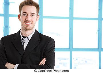 homme affaires, caucasien