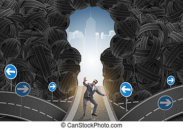homme affaires, concept, business, incertitude