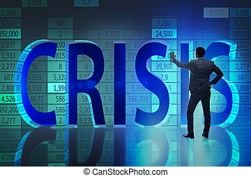 homme affaires, concept, crise, business