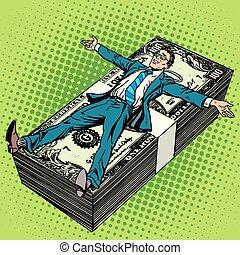 homme affaires, concept, financier, business, reussite