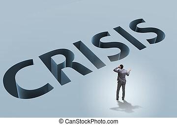 homme affaires, concept, financier, crise, business