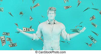 homme affaires, concept, investissement, réussi