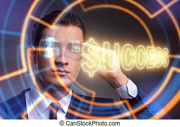 homme affaires, concept, reussite, business