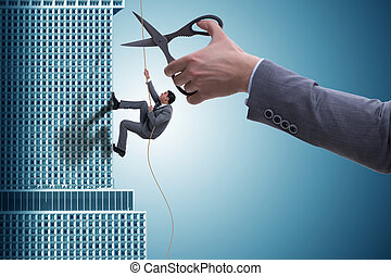 homme affaires, concept, risque, business