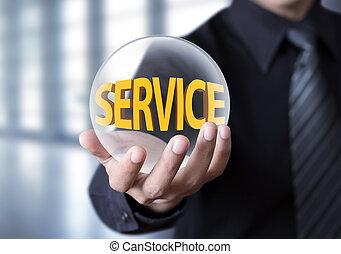 homme affaires, concept, service