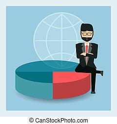 homme affaires, conception, dessin animé