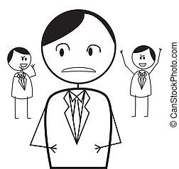 homme affaires, conflit