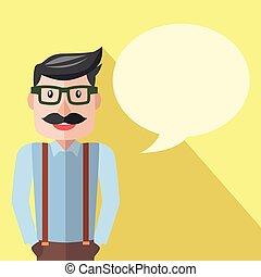 homme affaires, conversation commerciale, plat