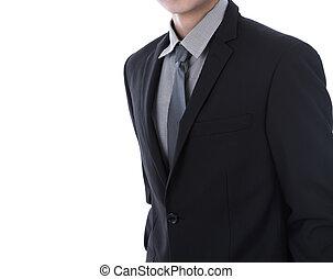 homme affaires dans procès, sur, a, fond blanc
