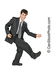 homme affaires, danse