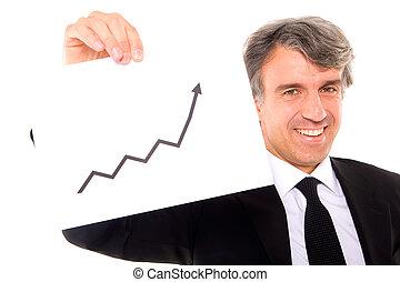 homme affaires, diagramme