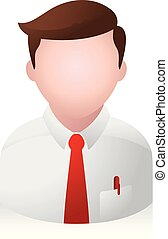 homme affaires, gens, -, avatar, icônes