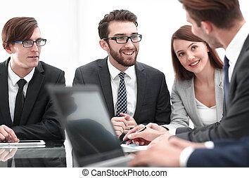 homme affaires, image, fond, bureau