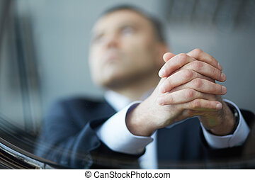 homme affaires, mains