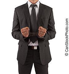 homme affaires, menottes, complet