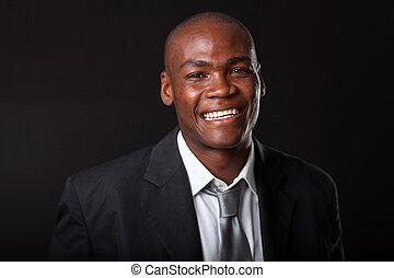 homme affaires, noir, africaine