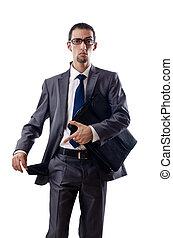 homme affaires, poches vides