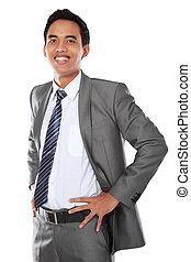 homme affaires, portrait