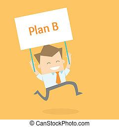 homme affaires, proactive, nouveau, stratégie