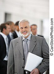 homme affaires, réunion