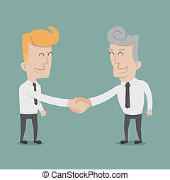 homme affaires, serrer main