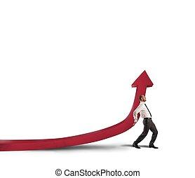 homme affaires, statistiques, aides