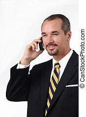 homme affaires téléphone