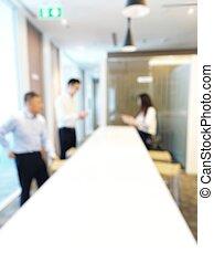 homme affaires, trois, travailler ensemble, nouveau, salon, collègue, femme, jeune, bureau., collègues, projet, image, femme affaires, discuter, brouillé, moderne, deux, rire., regarder, business