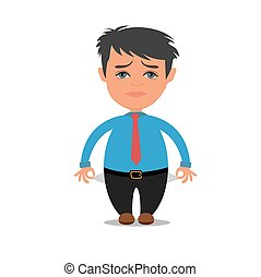 homme affaires, vecteur, vide, illustration, poches