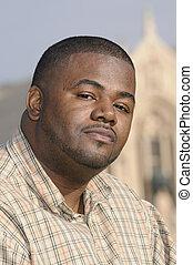 homme, américain africain, jeune