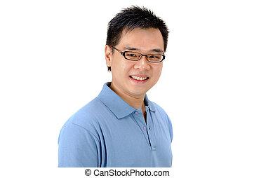 homme, asiatique
