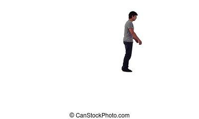homme, backflip, énergique