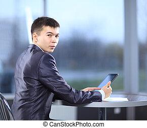 homme, bureau, business, jeune