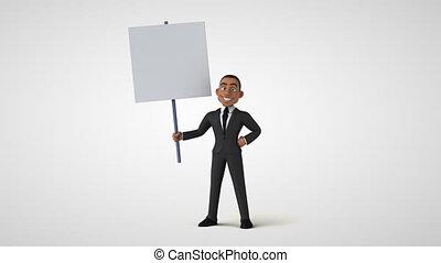 homme, business, dessin animé