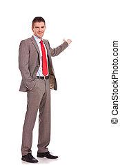 homme, business, présentation