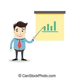 homme, business, statistique