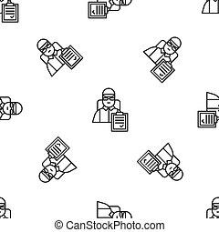 homme, carton, vecteur, modèle ligne, isolé, gris, icône, ...