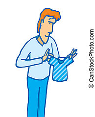 homme, chemise, minuscule, tenue