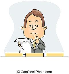 homme, classement, document