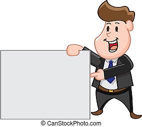 homme, copie, business, pointage, espace