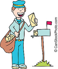 homme, courrier