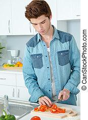 homme, cuisine