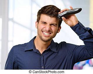 cheveux rasoir d coupage sien homme rasoir sien photographies de stock rechercher. Black Bedroom Furniture Sets. Home Design Ideas