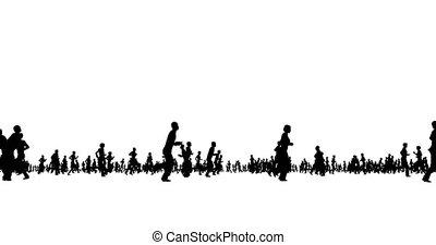 homme, femme, business, person., race., element., foule., sport, boy., isolé, jogging, gens, girl, team., formation, conception