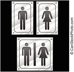 homme femme, signes