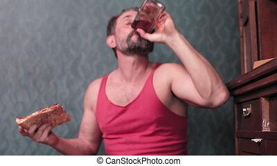 homme, fullhd, alcoolisme, qualité, bouteille, boissons, ...
