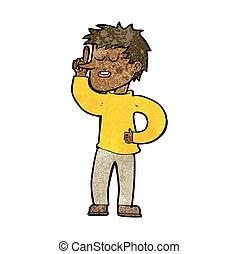 homme, idée, dessin animé