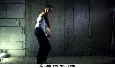 homme, jeune, danser.