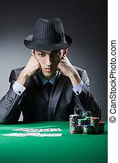 homme, jouer, dans, les, casino